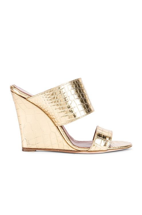 Paris Texas Metallic Croco 2 Strap Wedge