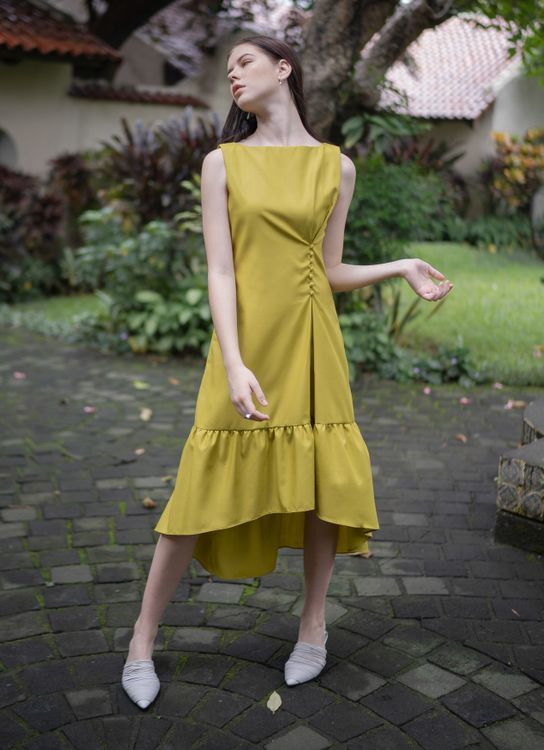 Dear Solange Amelie Dress - Limegreen