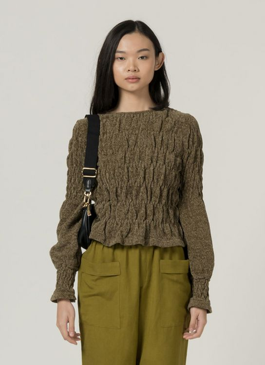 3Mongkis Rosie Knitted Top - Army