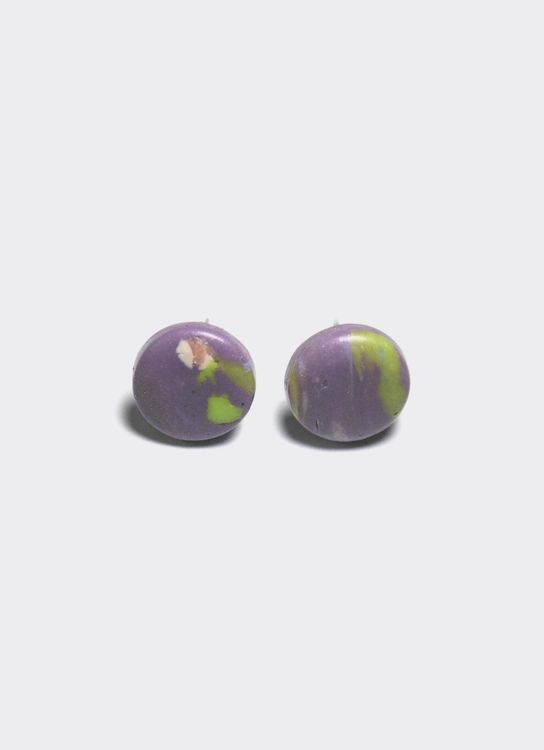 Mita Jewelry Floral Studs - Purple