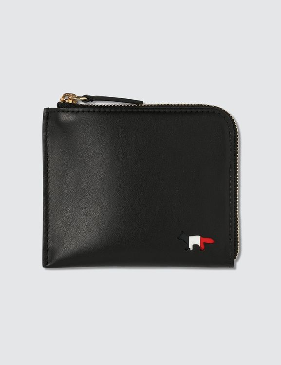 MAISON KITSUNE Tricolor Fox Leather Coin Purse