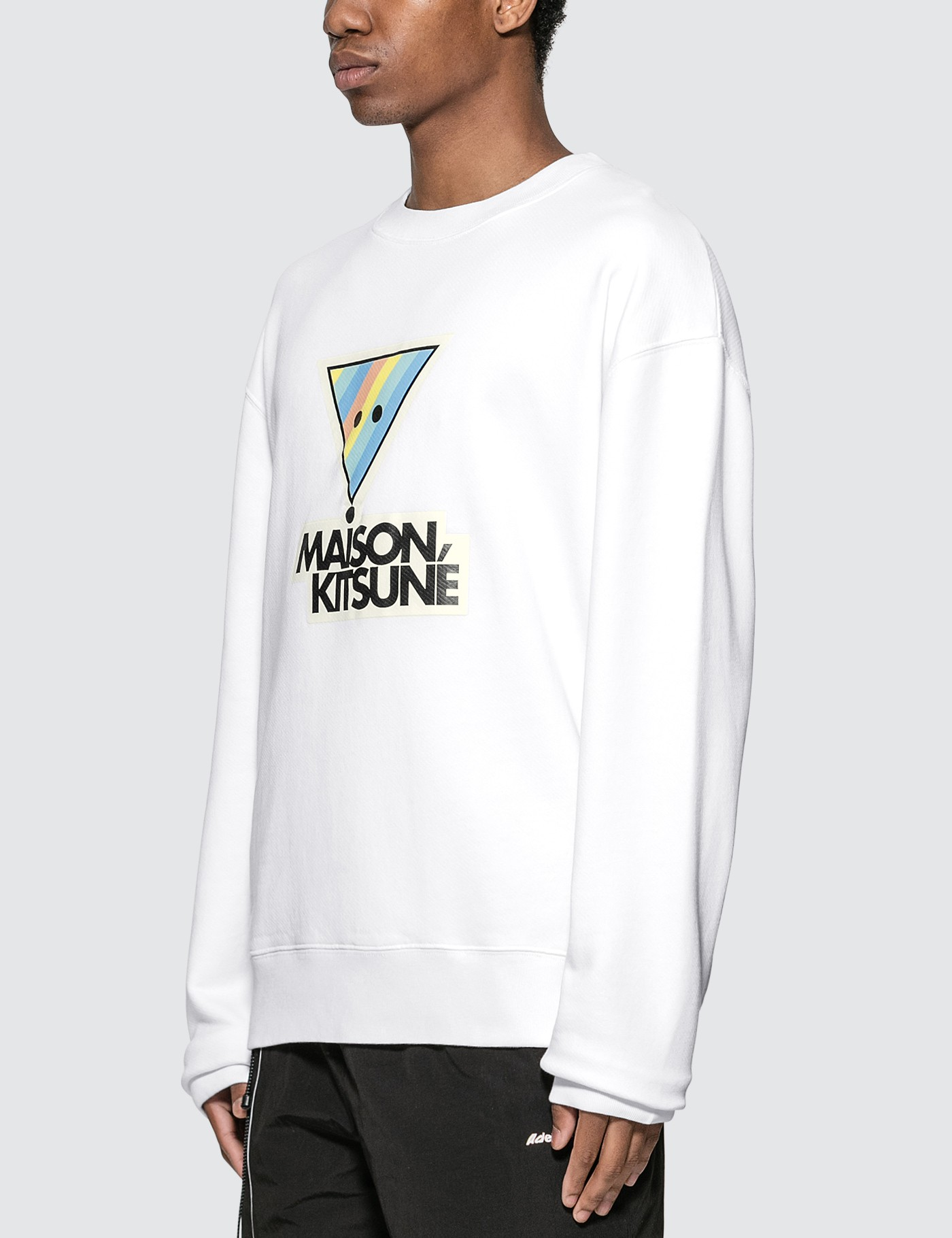 MAISON KITSUNE Rainbow Triangle Fox Print Sweatshirt
