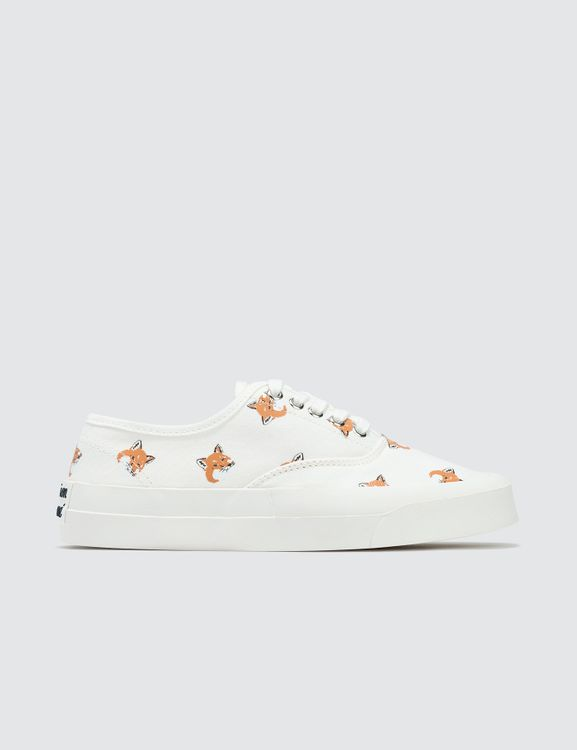 MAISON KITSUNE Fox Head Print Canvas Sneakers