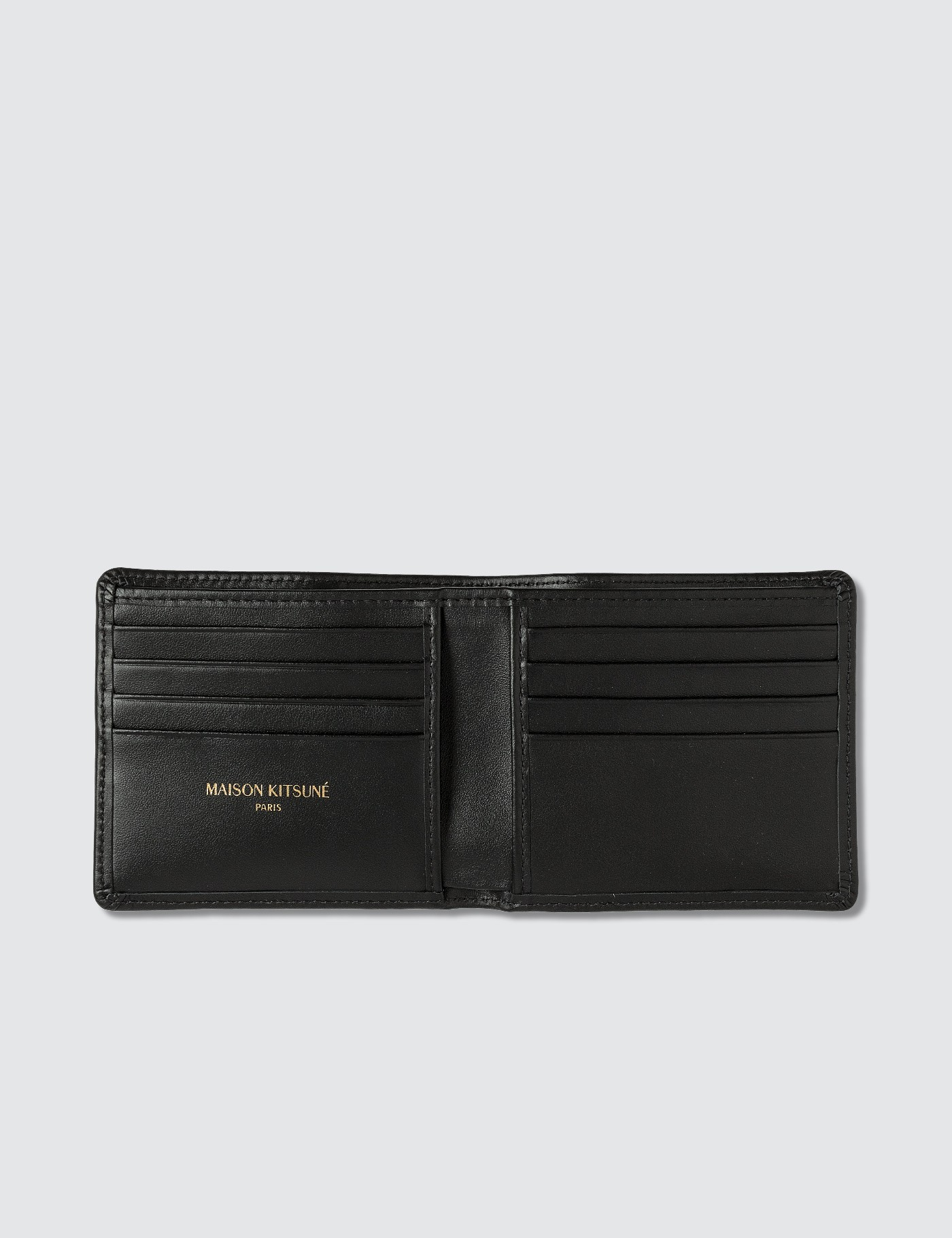 MAISON KITSUNE Tricolor Fox Leather Wallet
