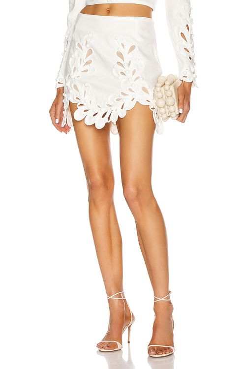 Zimmermann Brightside Rouleaux Mini Skirt