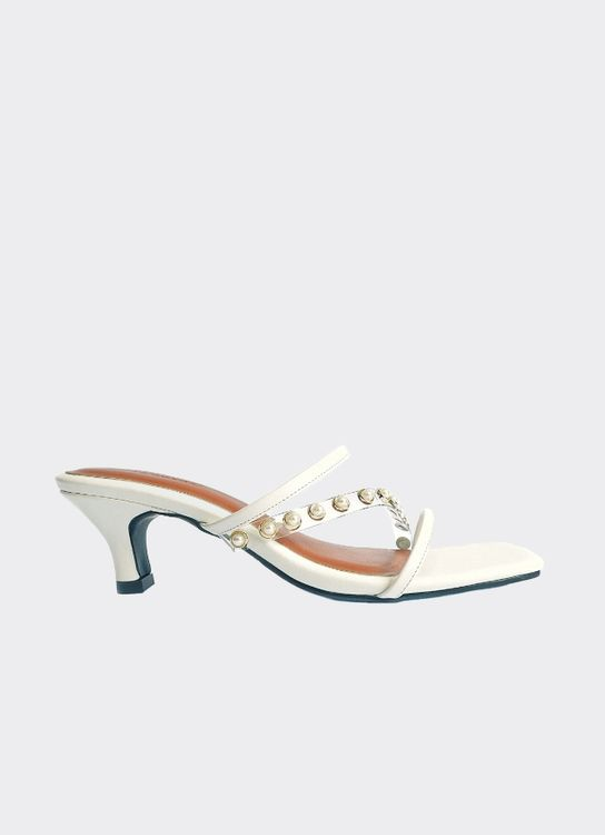 Nakedsol Bella Heels - White