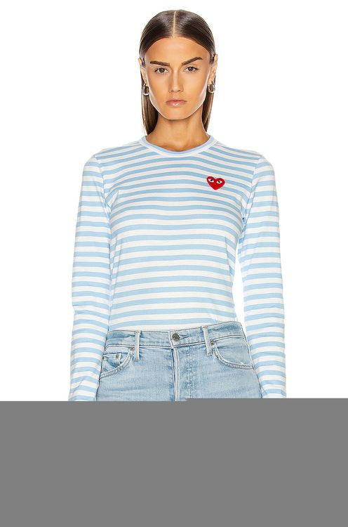Comme Des Garcons PLAY Striped Tee