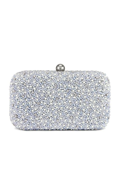 From St Xavier Mini Pearl Box Clutch