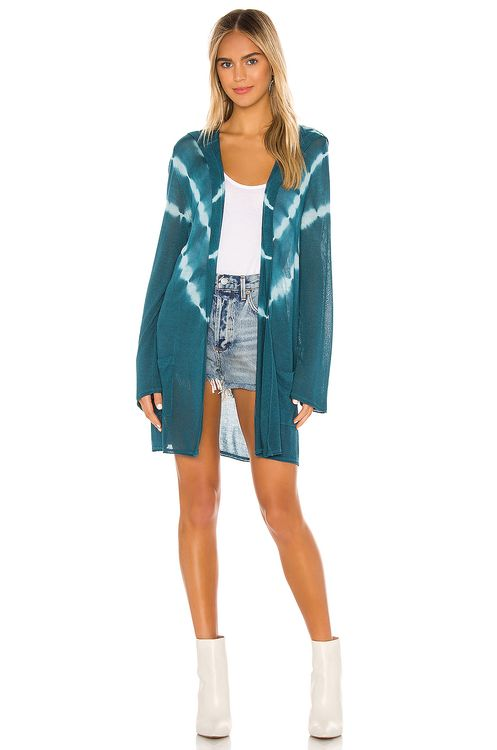 Chaser Bell Sleeve Hooded Open Tie Cardigan