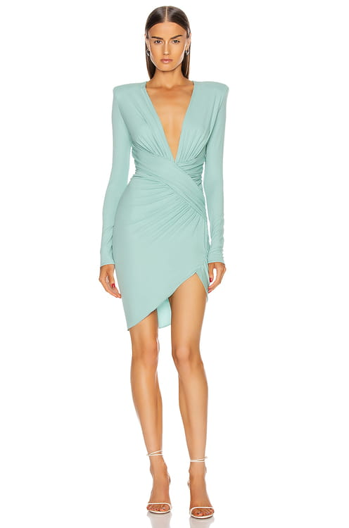 ALEXANDRE VAUTHIER Plunging Mini Dress
