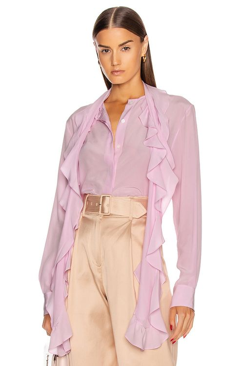 Victoria Beckham Frill Scarf Blouse