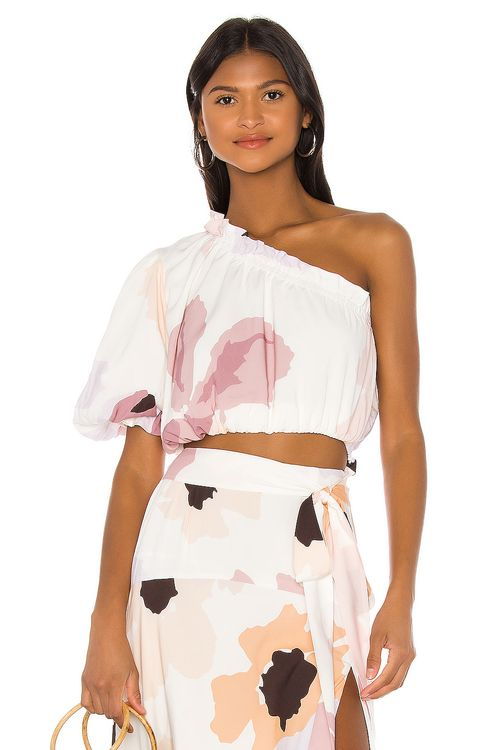 Peony Swimwear Puff Crop Top