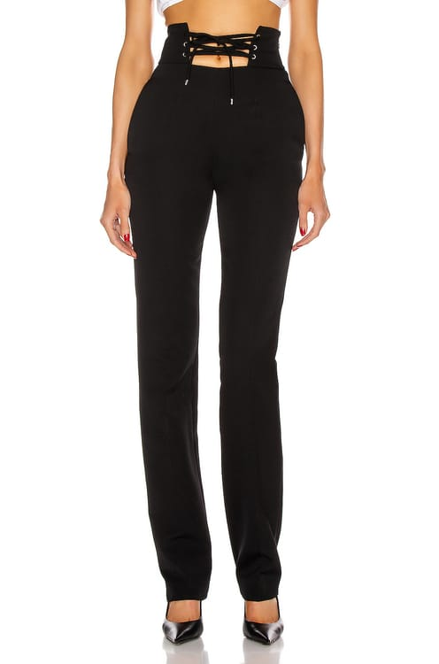 Attico High Waisted String Belt Pant