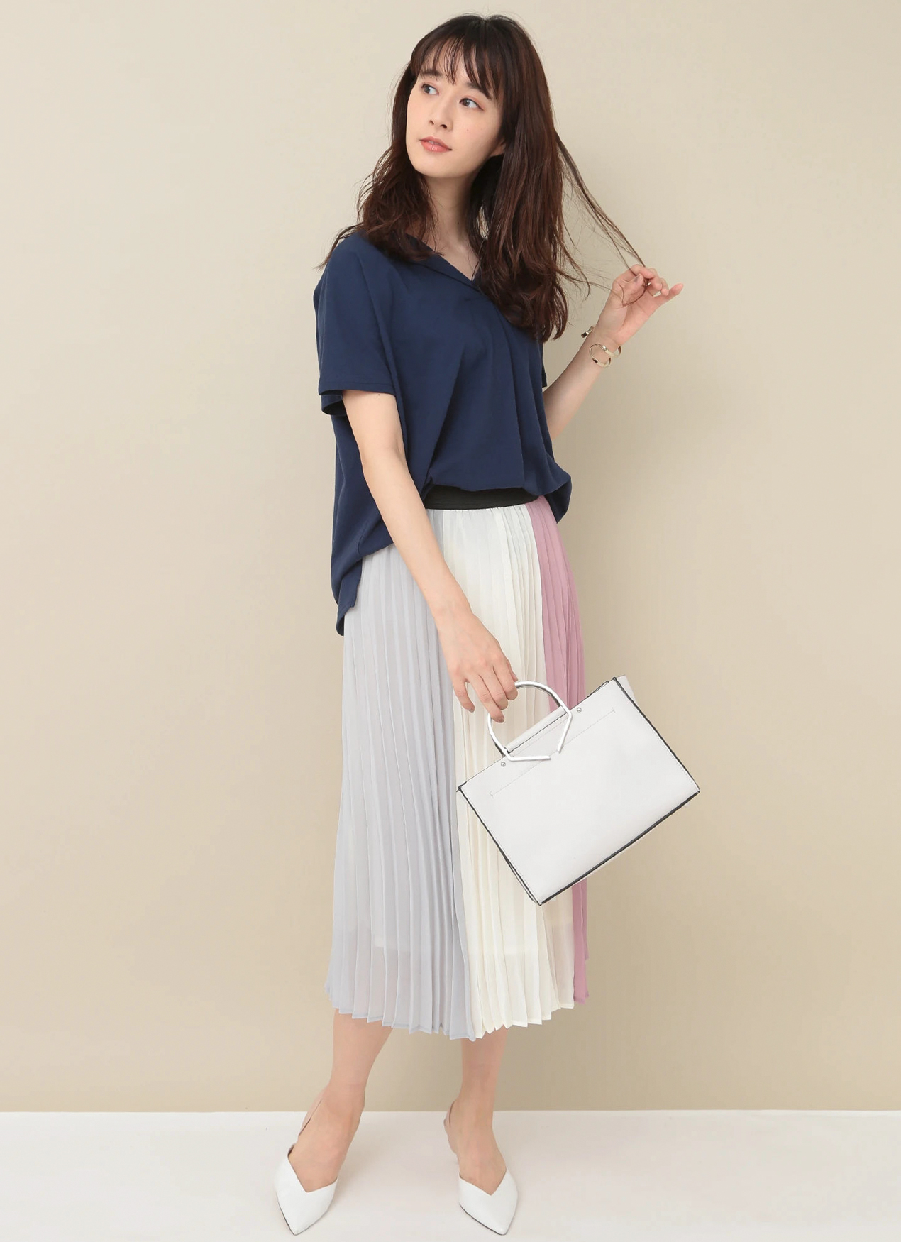 Earth, Music & Ecology Chie Skirt - Light Pink