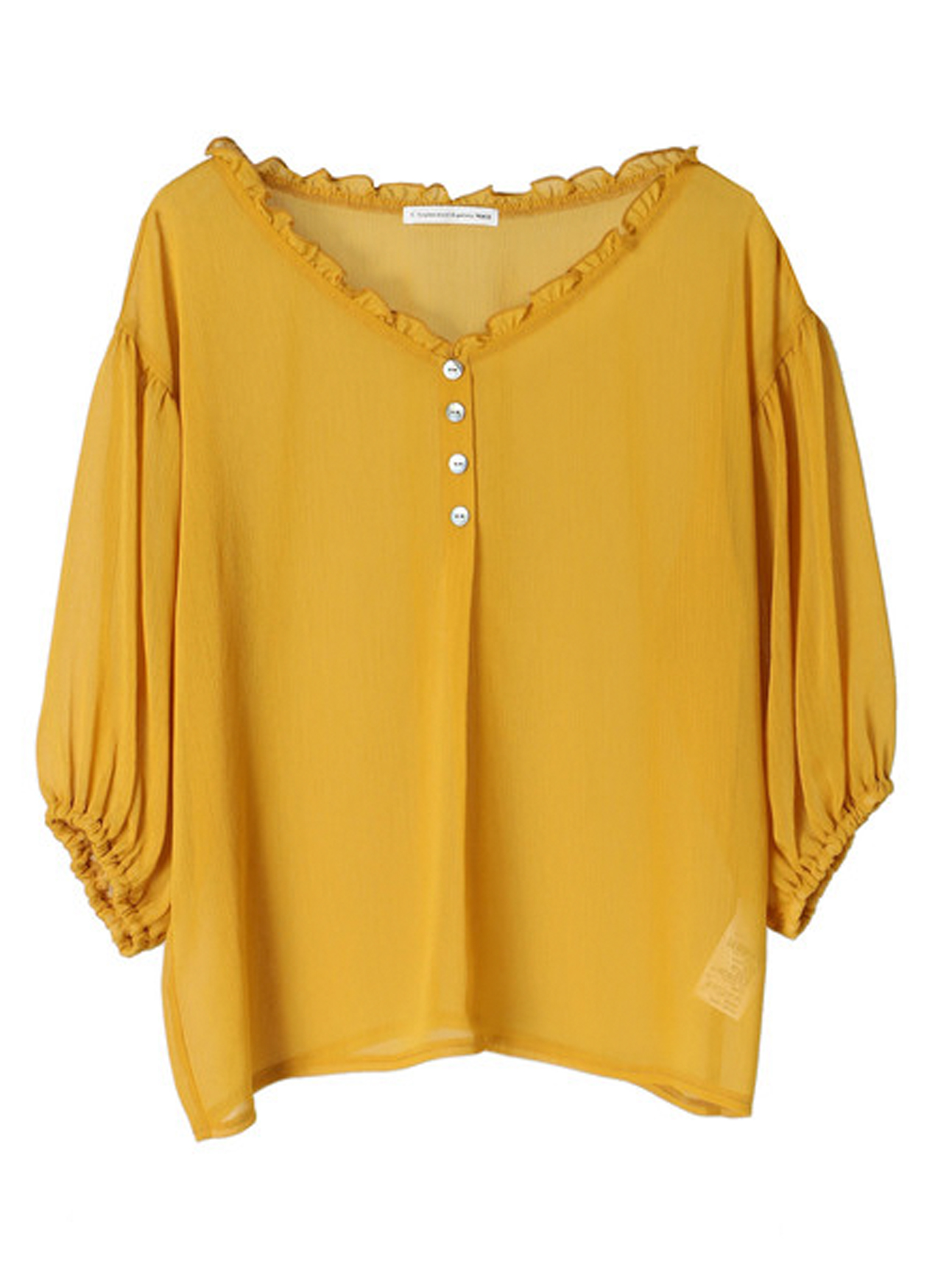 E-hyphen World Gallery Janicka Top - Yellow