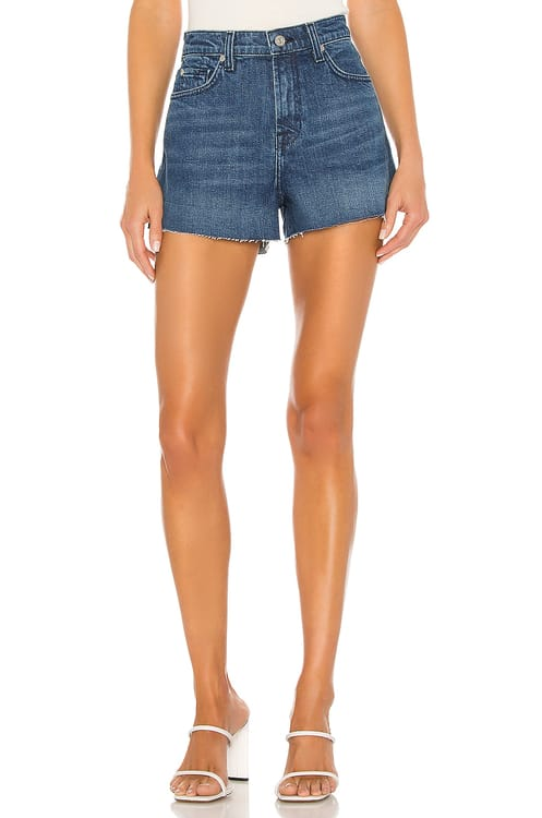 7 for all mankind High Rise Short With Cut Off Hem