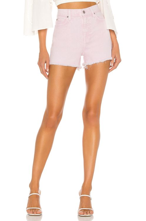 7 for all mankind High Waist Short With Fray Hem