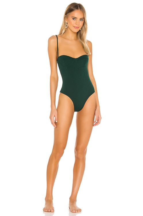 HAIGHT. Vintage Crepe Maillot One Piece