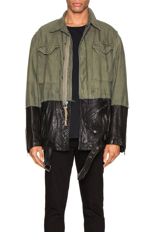 Greg Lauren 50/50 M51 Leather Jacket