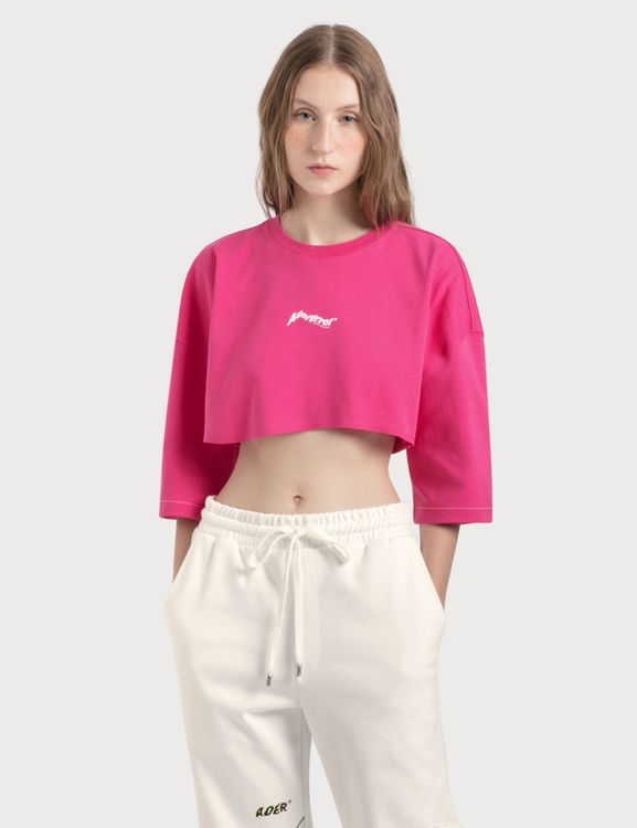 Ader Error Oversized Cropped Top