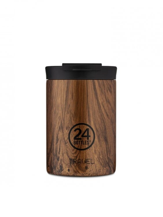 24Bottles 24Bottles Travel Tumbler Sequoia Wood 350ml