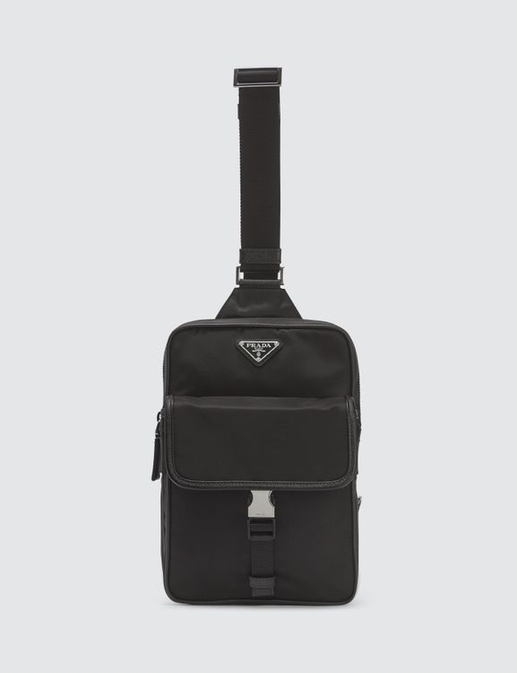 Prada Triangle Logo Crossbody Bag