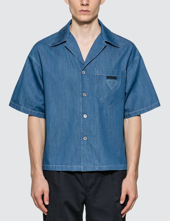 Prada Light Marine Denim Shirt