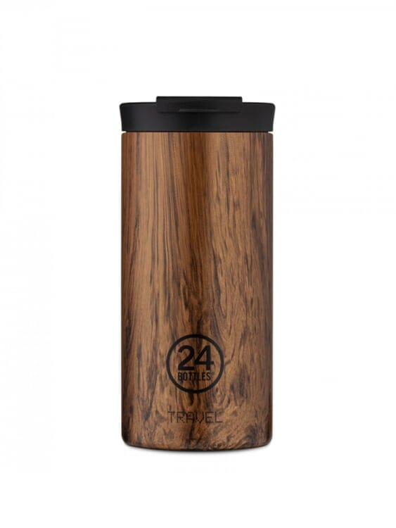 24Bottles 24Bottles Travel Tumbler Sequoia Wood 600ml