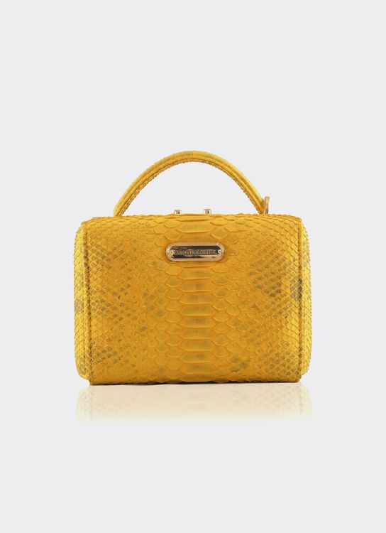 Doris Dorothea Pandora Box Bag - Yellow Curtus
