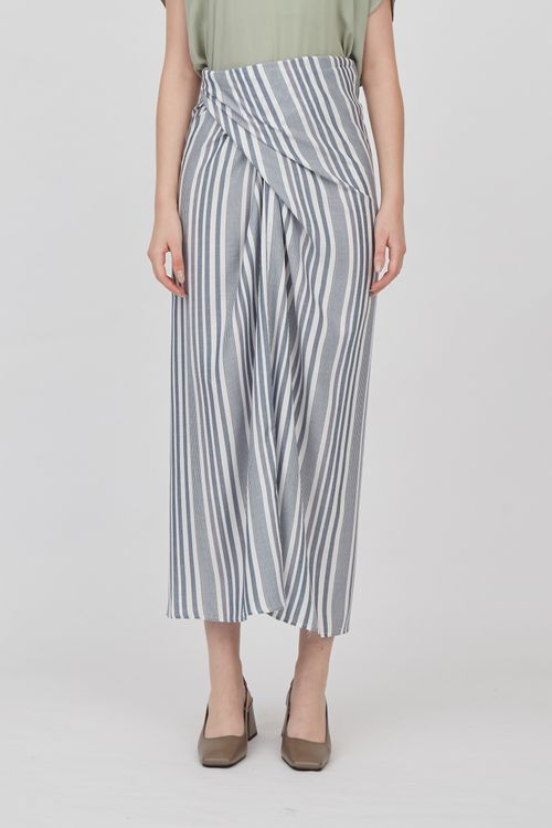 Shopatvelvet Stripe Wrap Skirt