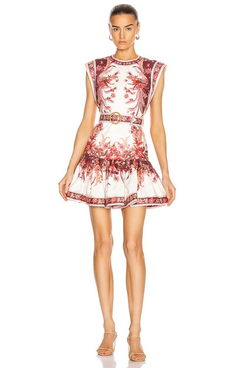 Zimmermann Wavelength Fluted Mini Dress