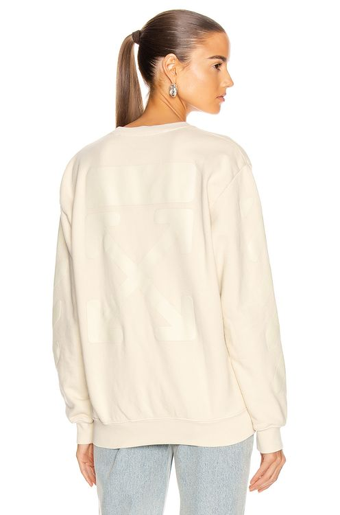 Off-White Diag Oversize Crewneck Sweater