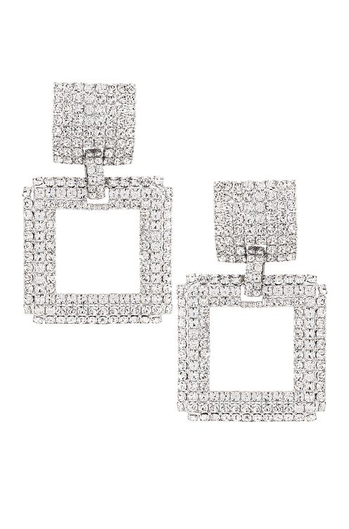 Alessandra Rich Square Earrings