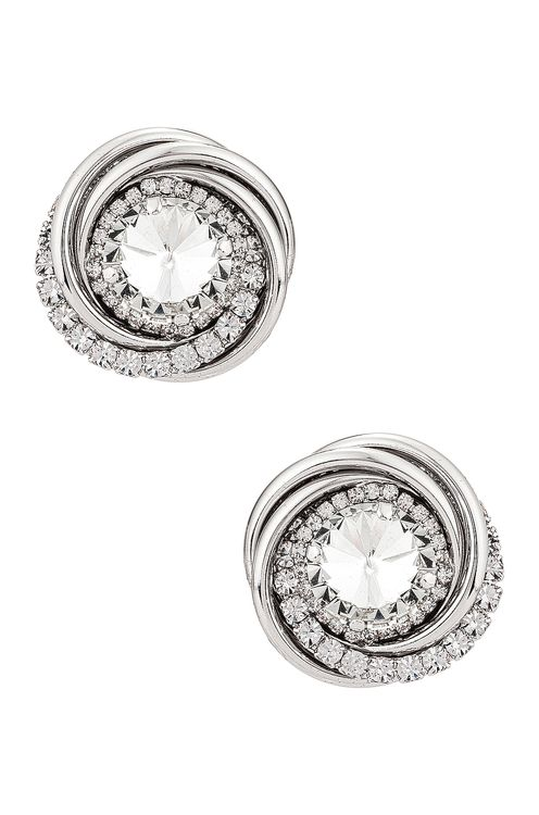 Alessandra Rich Double Torchion Earrings