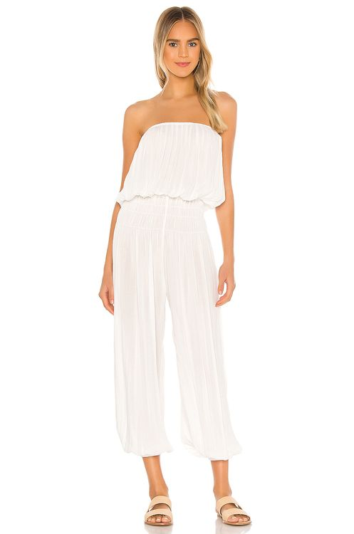 Indah Seychelle Strapless Pleated Jumpsuit