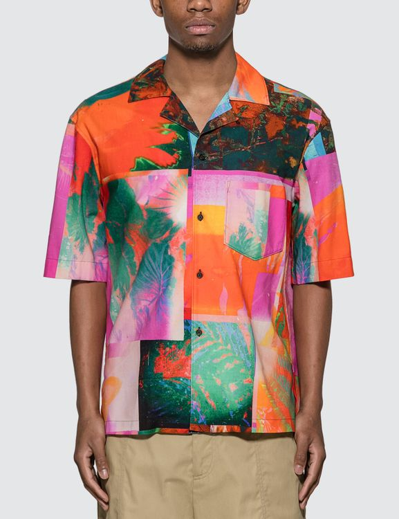 Acne Studios Abstract Botanical Print Shirt