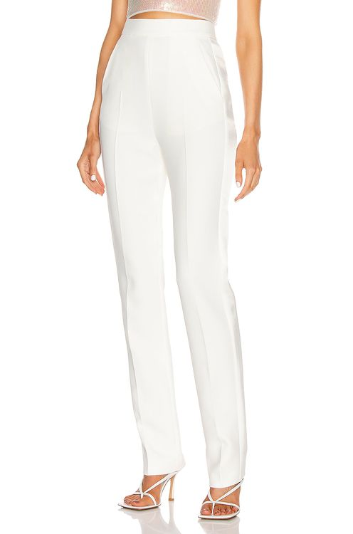 David Koma Satin Side Panel Slim Trouser