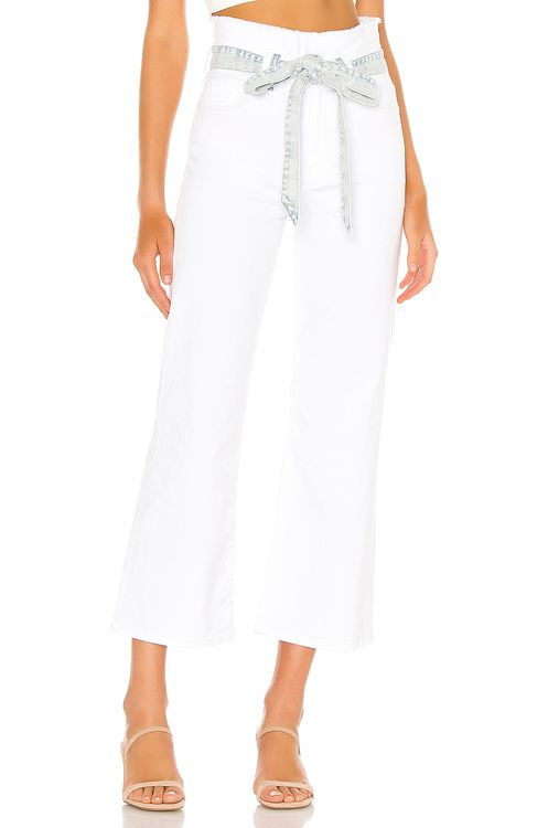 7 for all mankind Crop Alexa Paperbag Flare