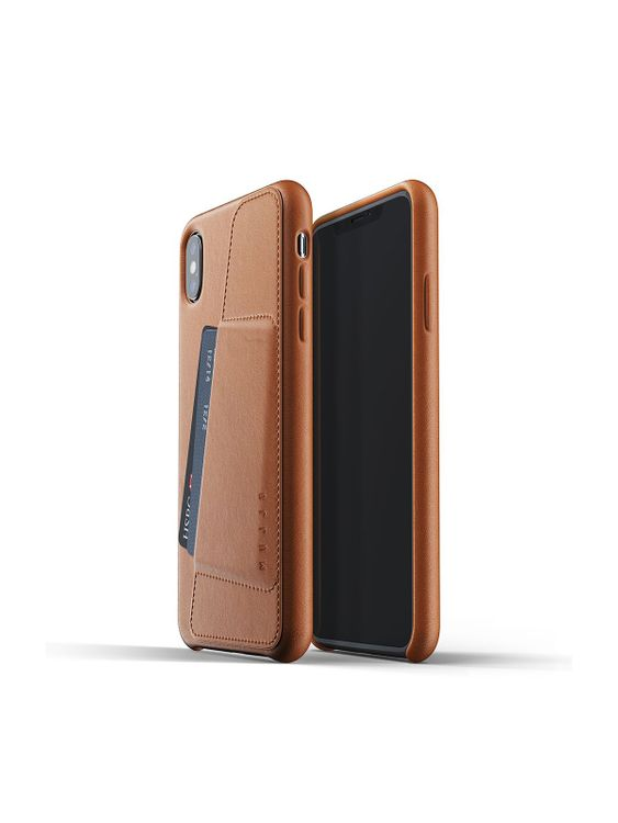 MUJJO Mujjo Full Leather Wallet Case for iPhone XS Max Tan