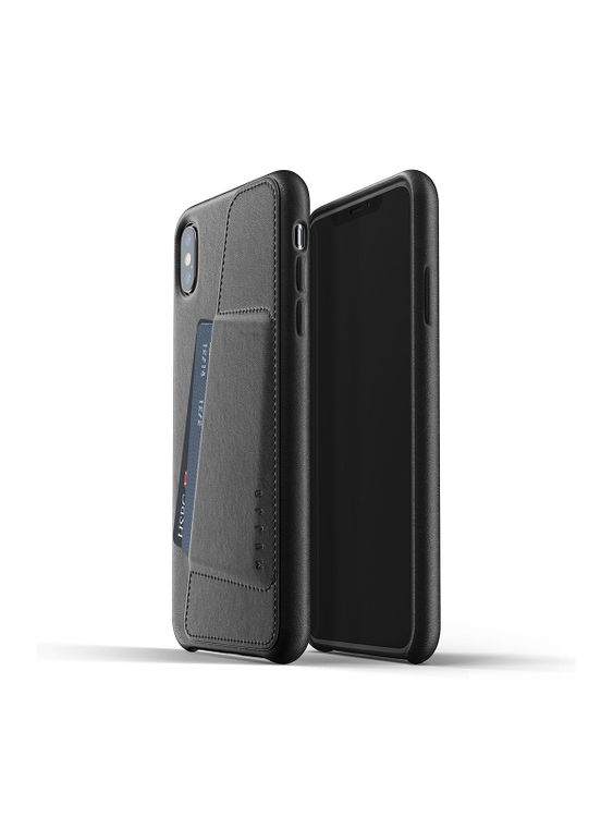 MUJJO Mujjo Full Leather Wallet Case for iPhone XS Max Black