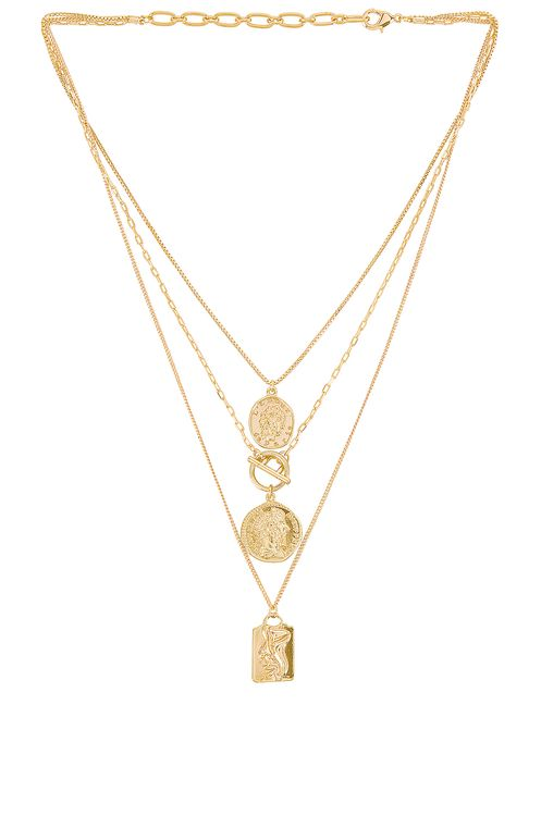 Amber Sceats Layered Coin Necklace