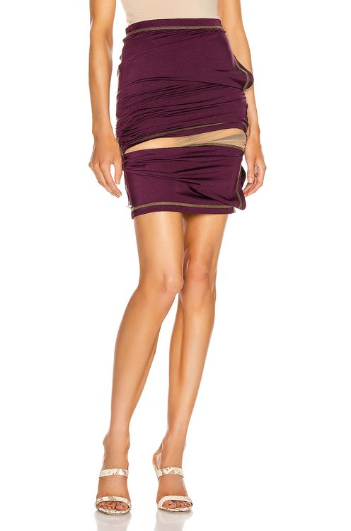 Y PROJECT Asymmetric Layered Skirt