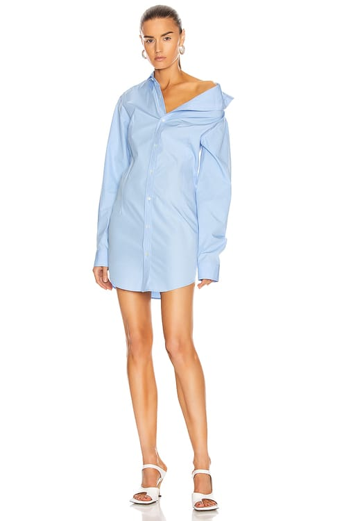 Y PROJECT Asymmetric Shirt Dress
