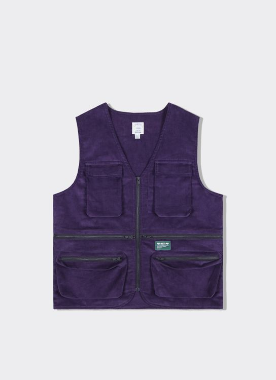 Pot Meets Pop Denim Vader Utility Vest Purple