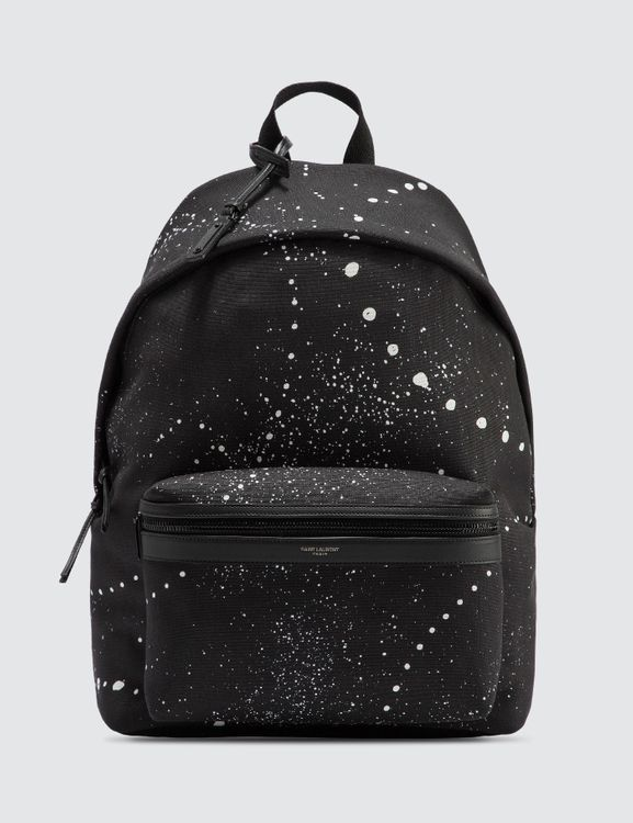 Saint Laurent City Backpack With Galaxy-Print Canvas