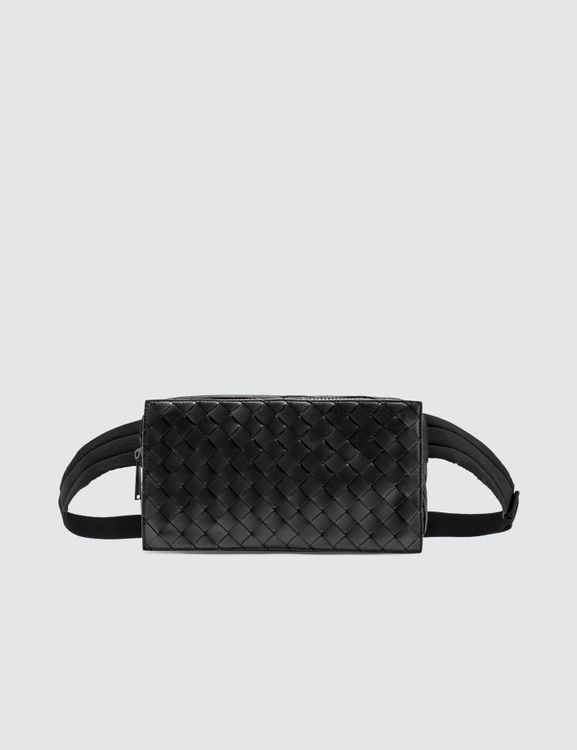 Bottega Veneta Intreciatto Leather Nylon Belt Bag