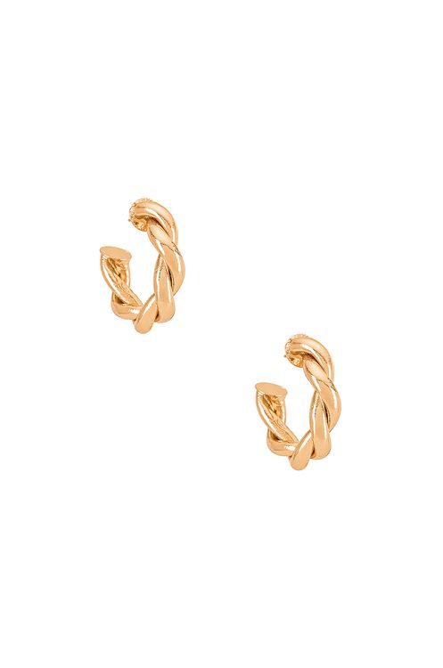 Amber Sceats Twist Hoop Earring