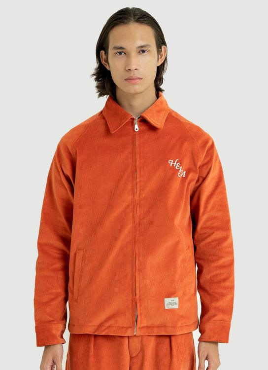Heim Zip Orange Corduroy Jacket