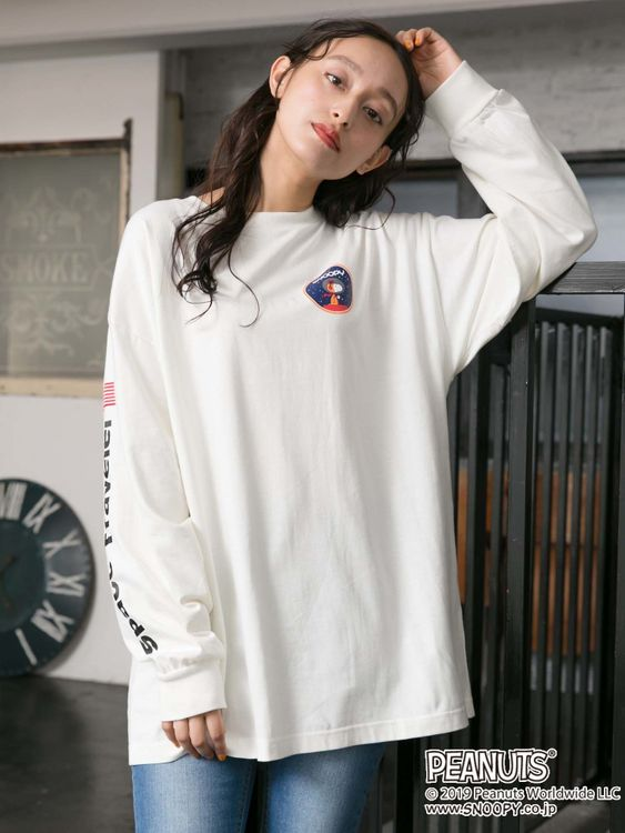 E-hyphen World Gallery Snoopy Oversized Tees - Off White