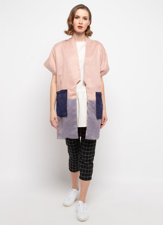 Spotlight Suede Color Block Cardigan
